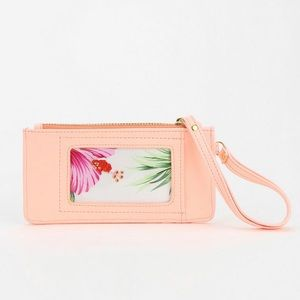 URBAN OUTFITTERS CORAL FLORAL WRISTLET